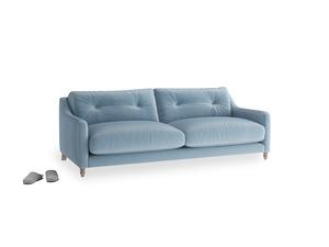 Medium Slim Jim Sofa in Chalky blue vintage velvet