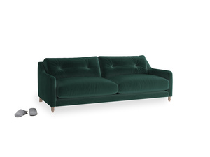 Medium Slim Jim Sofa in Dark green Clever Velvet