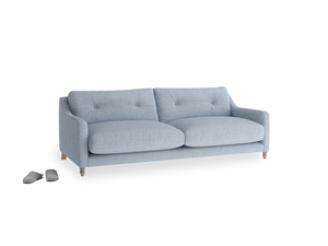 Medium Slim Jim Sofa in Frost clever woolly fabric