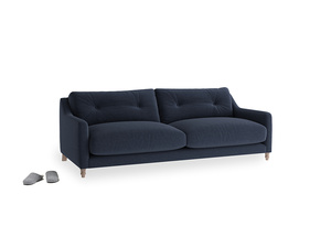 Medium Slim Jim Sofa in Indigo vintage linen