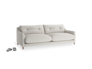 Medium Slim Jim Sofa in Moondust grey clever cotton