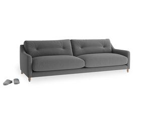 Large Slim Jim Sofa in Ash washed cotton linen