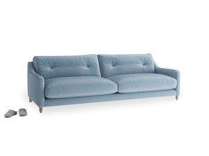 Large Slim Jim Sofa in Chalky blue vintage velvet