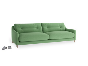 Large Slim Jim Sofa in Clean green Brushed Cotton
