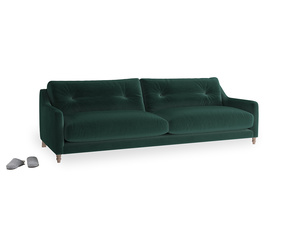 Large Slim Jim Sofa in Dark green Clever Velvet