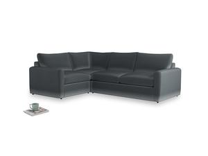 Large left hand Chatnap modular corner storage sofa in Dark grey Clever Deep Velvet with both arms