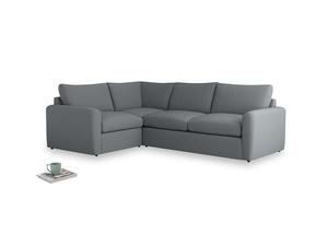 Large left hand Chatnap modular corner storage sofa in Dusk vintage linen with both arms
