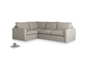 Large left hand Chatnap modular corner storage sofa in Sailcloth grey Clever Woolly Fabric with both arms