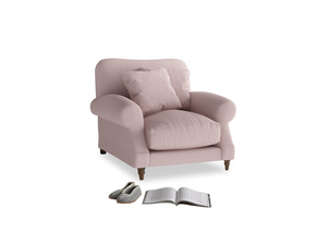 Crumpet Armchair in Potter's pink Clever Linen