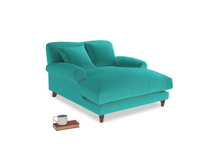 Crumpet Love Seat Chaise in Fiji Clever Velvet