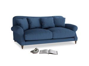 Medium Crumpet Sofa in True blue Clever Linen