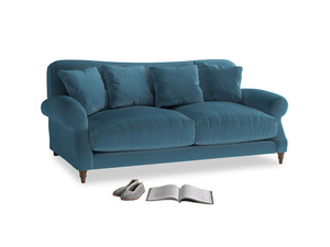 Medium Crumpet Sofa in Old blue Clever Deep Velvet