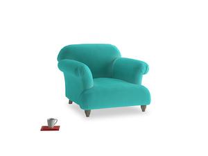 Soufflé Armchair in Fiji Clever Velvet