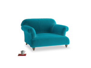Soufflé Love seat in Pacific Clever Velvet