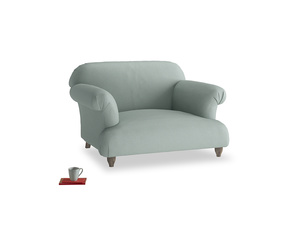 Soufflé Love seat in Sea fog Clever Woolly Fabric