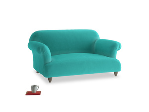 Small Soufflé Sofa in Fiji Clever Velvet