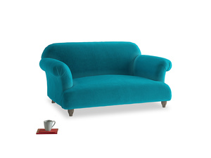 Small Soufflé Sofa in Pacific Clever Velvet