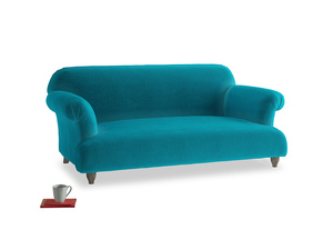 Medium Soufflé Sofa in Pacific Clever Velvet