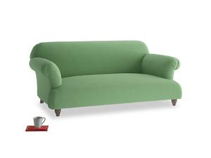 Medium Soufflé Sofa in Clean green Brushed Cotton