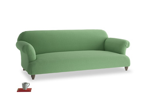 Large Soufflé Sofa in Clean green Brushed Cotton