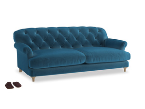 Large Truffle Sofa in Twilight blue Clever Deep Velvet