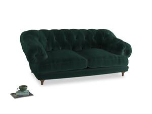 Medium Bagsie Sofa in Dark green Clever Velvet