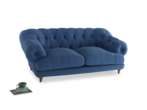 Medium Bagsie Sofa in English blue Brushed Cotton