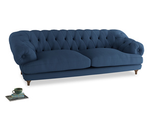Extra large Bagsie Sofa in True blue Clever Linen