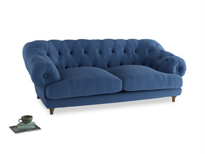Large Bagsie Sofa in English blue Brushed Cotton