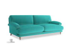 Large Slowcoach Sofa in Fiji Clever Velvet