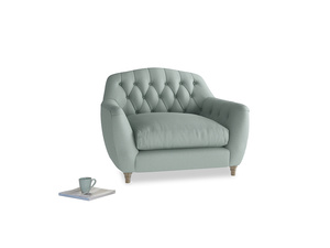 Love Seat Butterbump Love Seat in Sea fog Clever Woolly Fabric