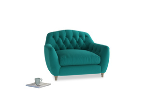 Love Seat Butterbump Love Seat in Indian green Brushed Cotton