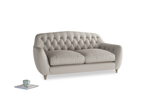 Medium Butterbump Sofa in Sailcloth grey Clever Woolly Fabric