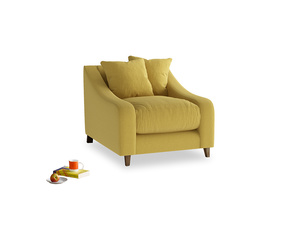 Oscar Armchair in Maize yellow Brushed Cotton