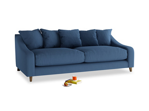 Large Oscar Sofa in True blue Clever Linen