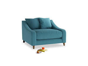 Oscar Love seat in Lido Brushed Cotton