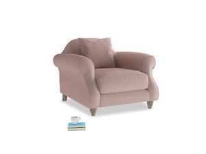Sloucher Armchair in Rose quartz Clever Deep Velvet