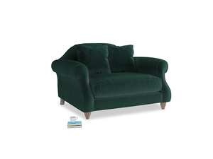 Sloucher Love seat in Dark green Clever Velvet