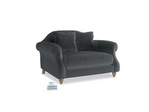 Sloucher Love seat in Dark grey Clever Deep Velvet