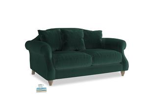 Small Sloucher Sofa in Dark green Clever Velvet
