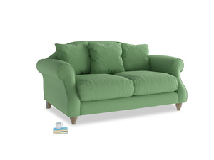 Small Sloucher Sofa in Clean green Brushed Cotton