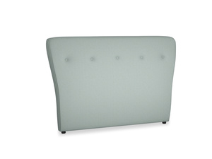 Double Smoke Headboard in Sea fog Clever Woolly Fabric