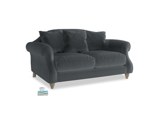 Small Sloucher Sofa in Dark grey Clever Deep Velvet