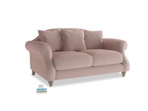 Small Sloucher Sofa in Rose quartz Clever Deep Velvet