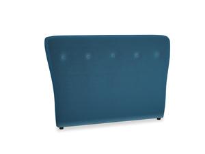Double Smoke Headboard in Twilight blue Clever Deep Velvet
