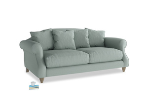 Medium Sloucher Sofa in Sea fog Clever Woolly Fabric