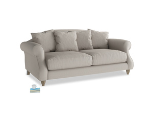 Medium Sloucher Sofa in Sailcloth grey Clever Woolly Fabric