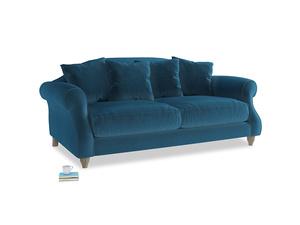 Medium Sloucher Sofa in Twilight blue Clever Deep Velvet
