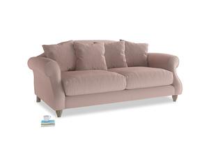 Medium Sloucher Sofa in Rose quartz Clever Deep Velvet