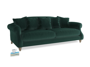 Large Sloucher Sofa in Dark green Clever Velvet